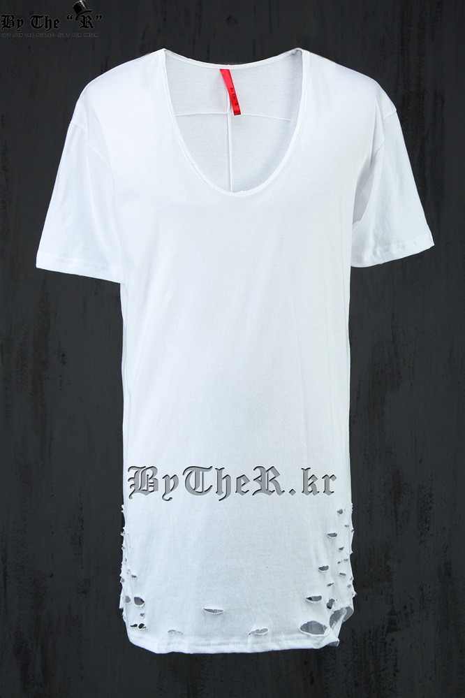 ByTheR U-Shape Damaged T-Shirt
