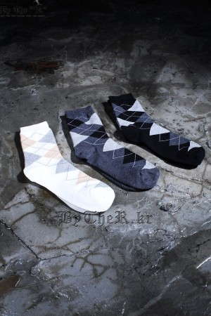 Argyle Check Socks