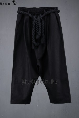 ByTheR Linen Rope Crop Baggy Pants