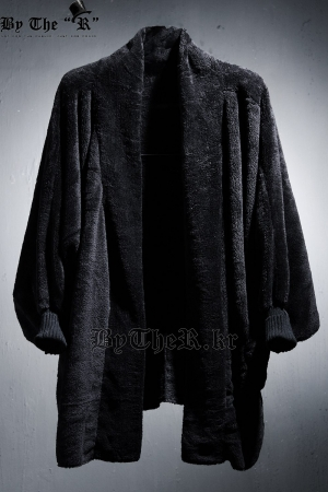 ByTheR Lux Dark Fur Cardigan