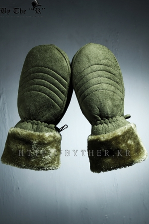 Khaki Woolen Casual Cozy Gloves