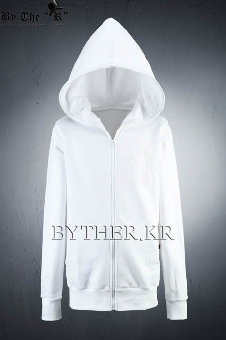ByTheR White Back Skull Hoodie