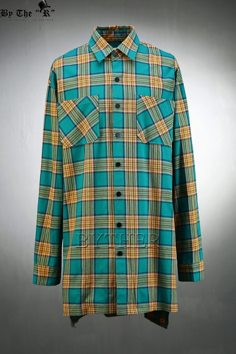 Snap Button Check Long Shirts