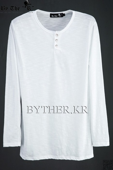 ByTheR Henley-neck Long Sleeve T-Shirts