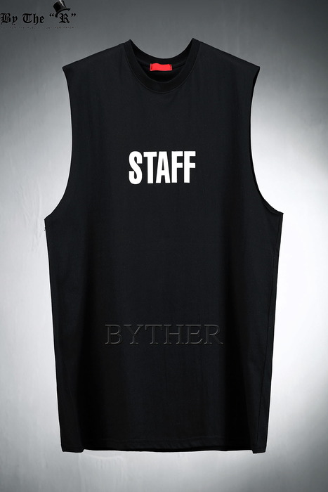 Staff Print Loose Fit Tank Top