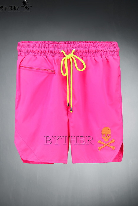 ByTheR  Skull Neon Pink Swimming Trunk