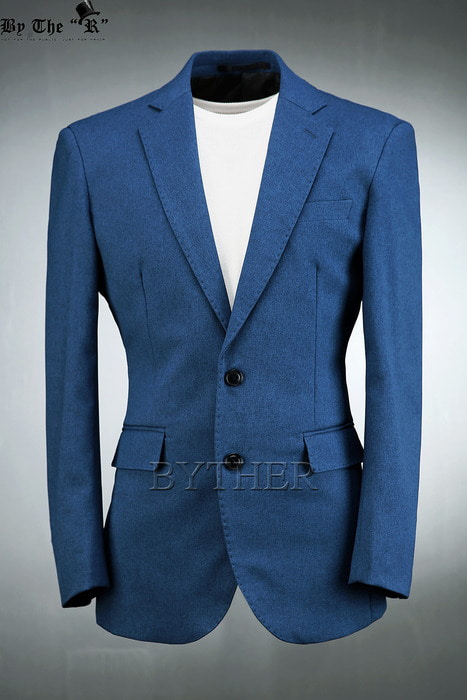 Cobalt Slim Two Button Jacket