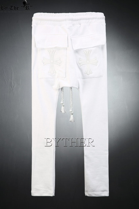 ByTheR Cross Slim Baggy Pants