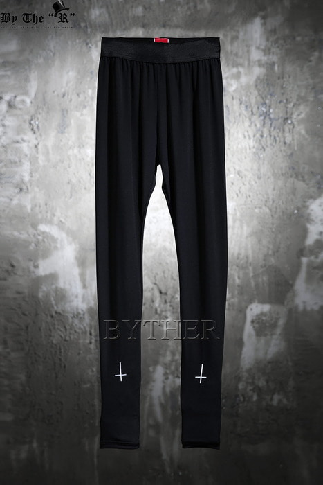 ByTheR X ProjectR Cross Embroidered Leggings