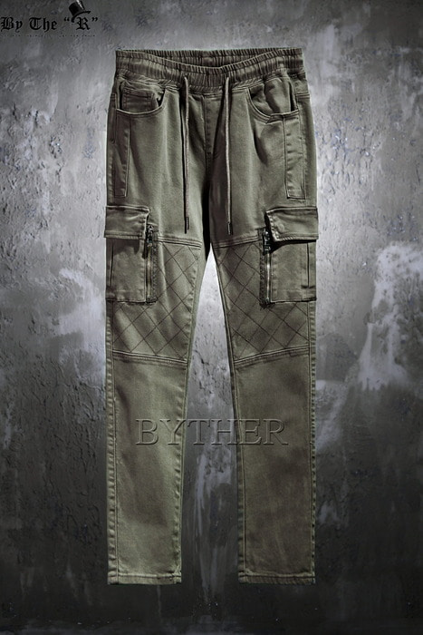 Chess Stitch Cargo Bending Pants