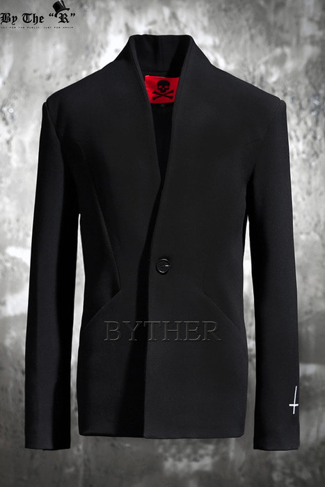 ByTheR X ProjectR Lapelless Single Button Blazer
