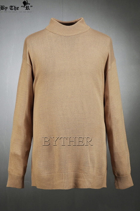 ByTheR Drop Loose Fit Funnel Knit T-Shirts