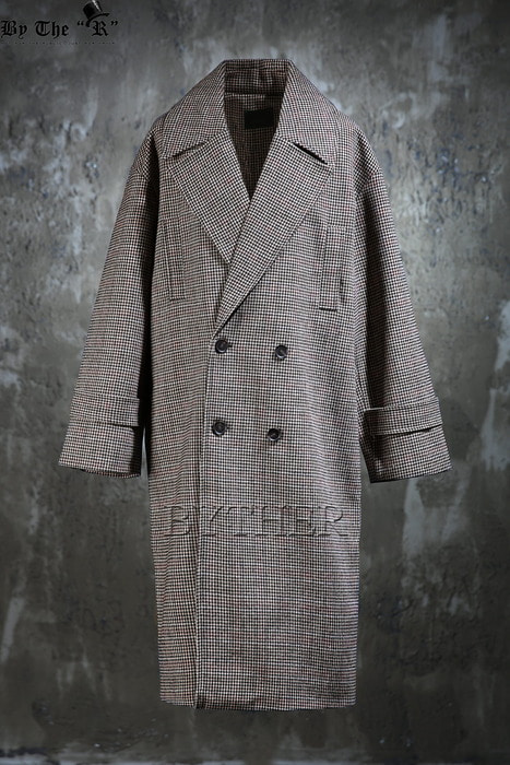 Multi Check Over-fit Double Coat