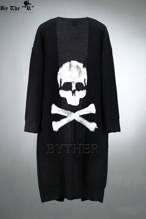 ByTheR Back Skull Cardigan