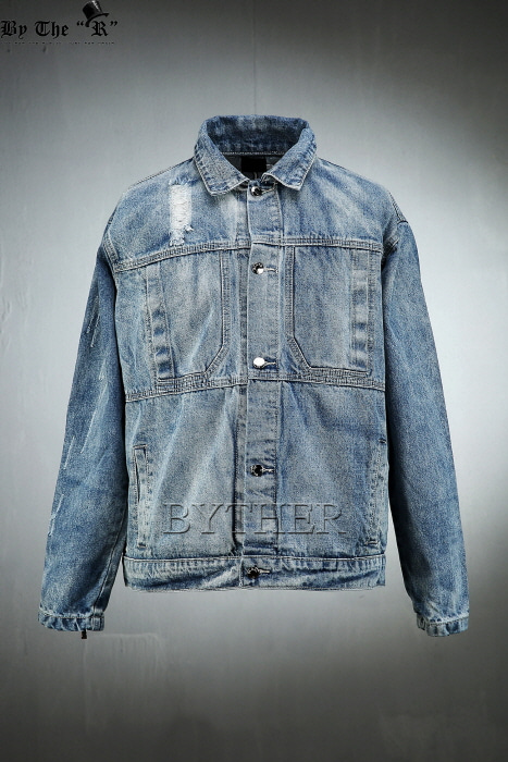 Cross Embroidery Blue Jacket