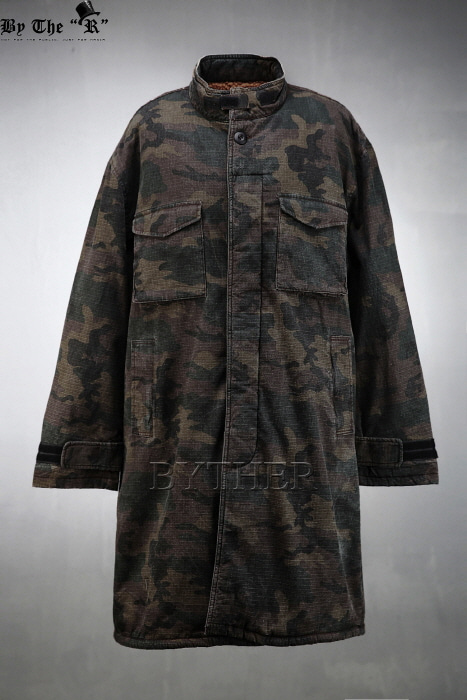 Wool Lining Washed Camouflage Field Jacket
