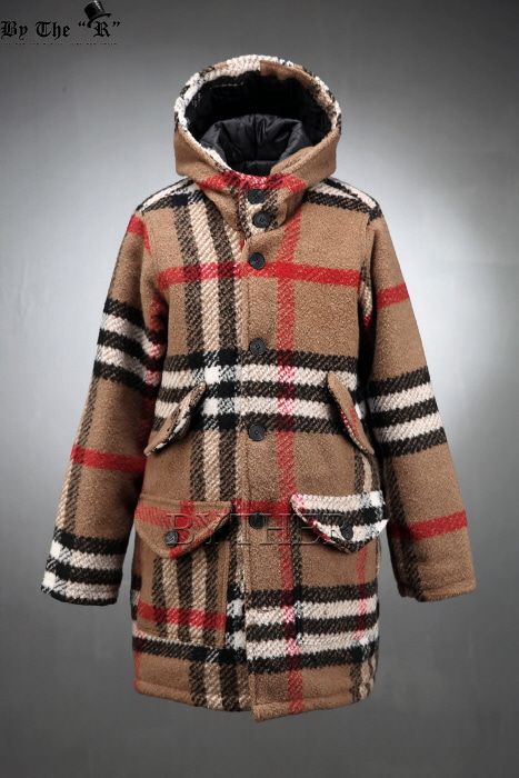 Nova Check Hooded Coat