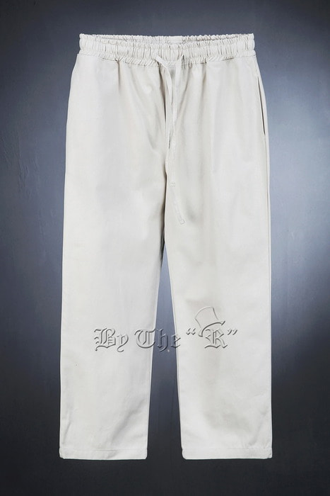 Banding Tie Wide Pure Cotton Pants