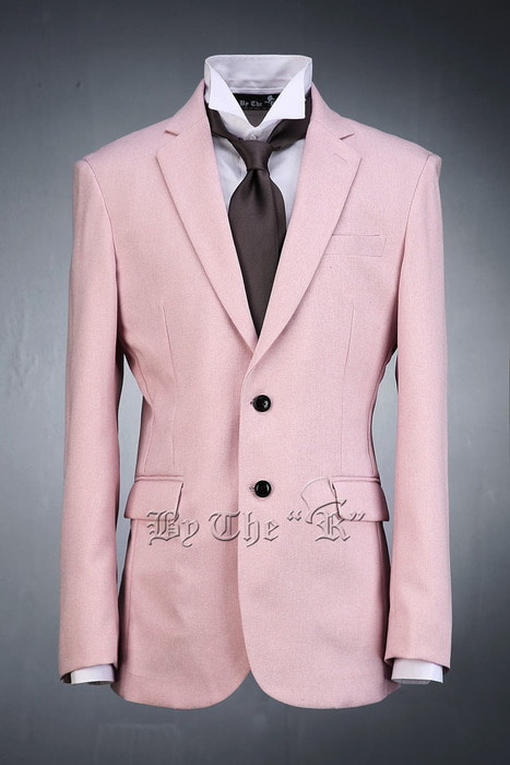 Pink Span Casual Jacket Two Button