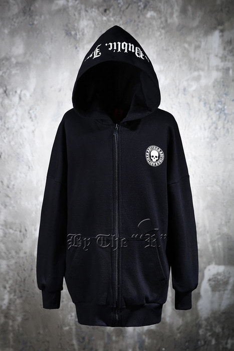 ByTheR Skull Logo Zip-up Hoodie