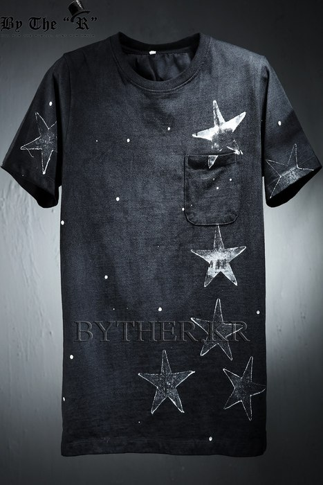 Grunge Star Print Cotton T-shirts