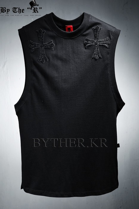 Double Cross Cotton Sleeveless Top