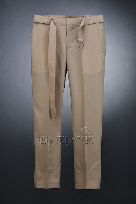 Ring Belt Straight Slacks