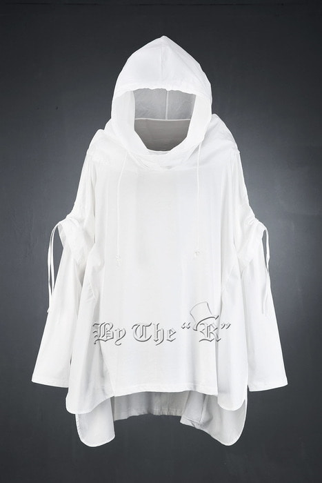 ByTheR Batwing Sleeve Layered Poncho Hoodie