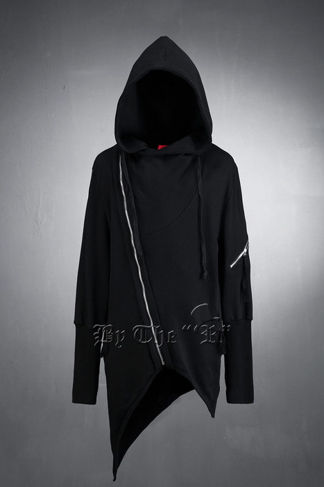 ByTheR Unbalanced Zipper Wrap Hoodie
