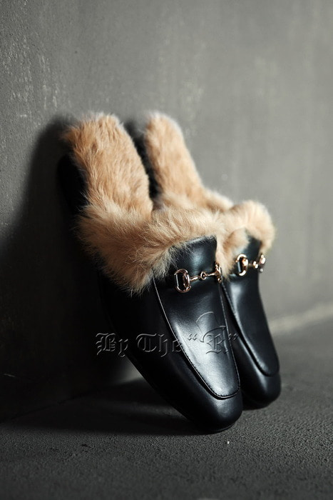 Fur Lining Leather Bloafer