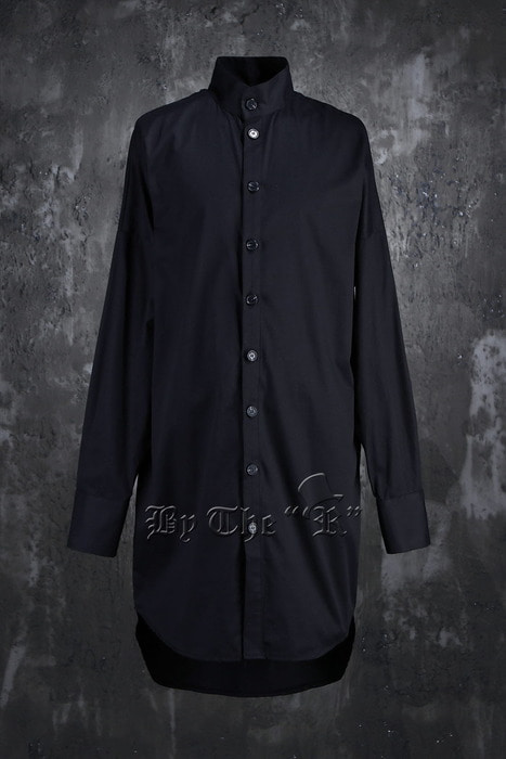 ByTheR Mandarin Long Loose Shirts