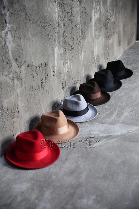 ByTheR Vivid Woolen Fedora Hat