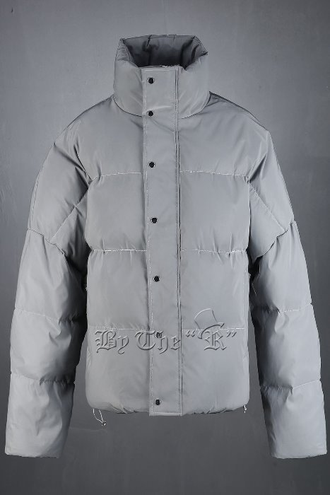 Scotchlite Duck down Cropped Wide Padded Jacket