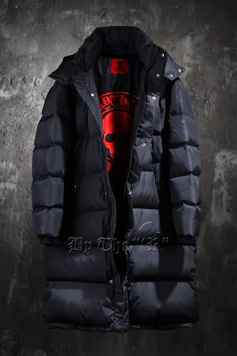 ByTheR Logo Patch Duck-down Puffer Long Parka