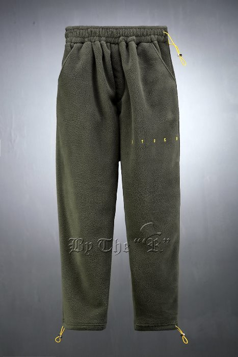 Lettering Printing Fleece Pants