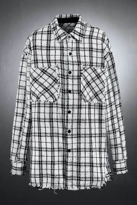 Casual Check Roulette Tweed Jacket