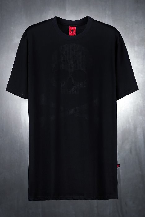 ByTheR Back Mesh Skull Black T-shirt