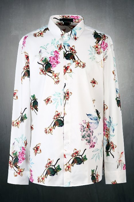 Classic Floral Pattern Silket Shirt