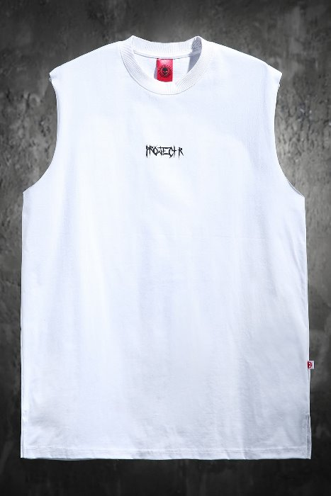 ProjectR Sharp Font Print Slogan Tank Top