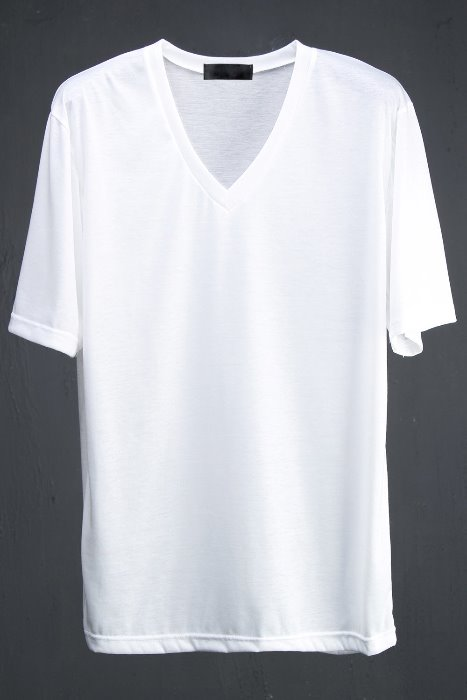 Loose Fit V-Neckline Basic Short Sleeve T-Shirt