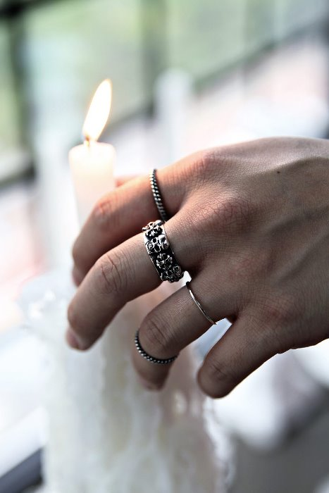 Skull Cross Pattern Metal Ring