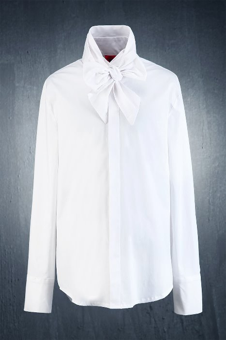 ByTheR Hidden Button Ribbon Tie Shirt