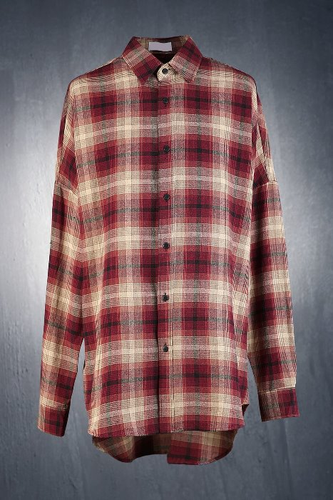 Vintage Color Check Plaid  Loose Fit Shirt