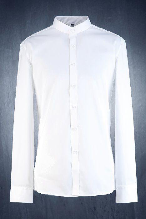 Mandarin Collar Classic Dress Shirt