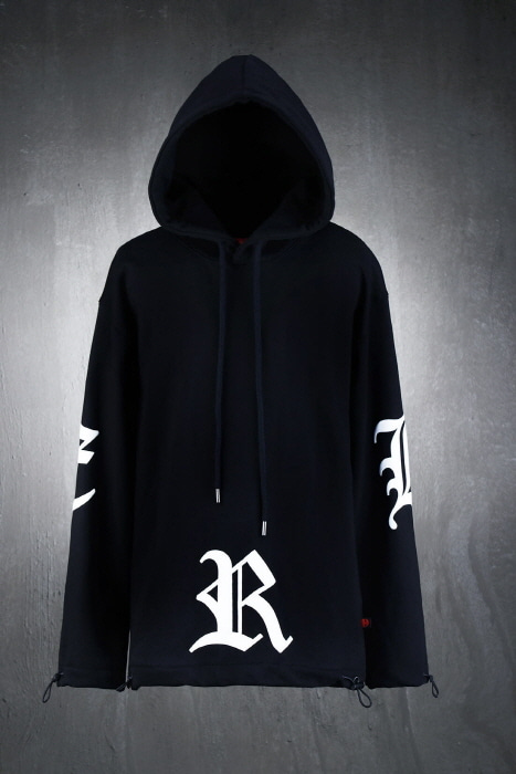 ByTheR Big Lettering Logo String Hoodie