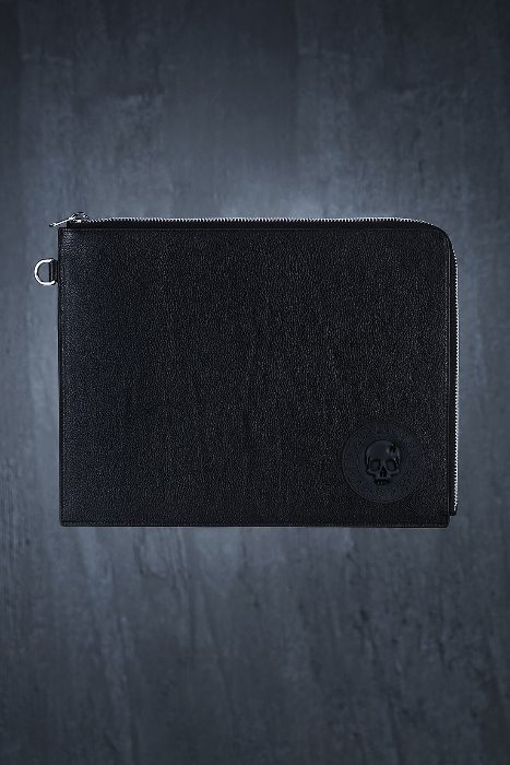 ByTheR Logo Patch Leather Clutch Bag