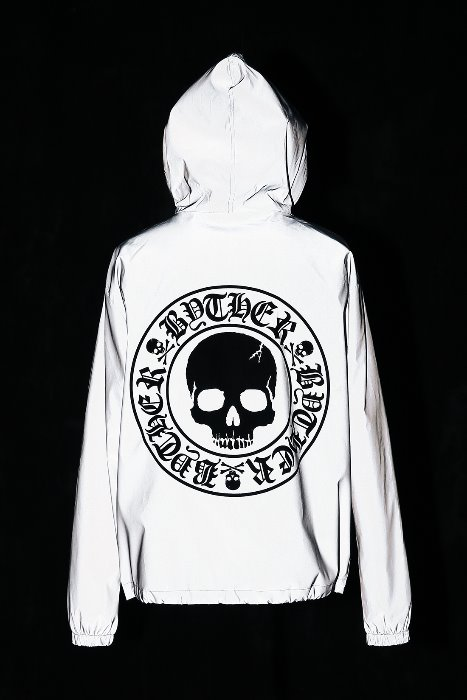 ByTheR Skull Logo Printing Scotch Winter Windbreaker(Fleece lining)