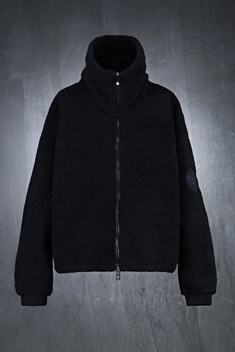 Fleece Line Turtleneck Loose Fit Jacket