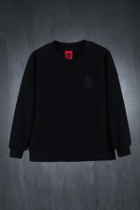 ByTheR Kids Skull Embroidered Sweatshirt