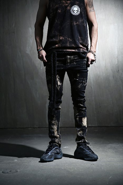 ByTheR Custom Rough Bleach Hem Cutting Knife Jean